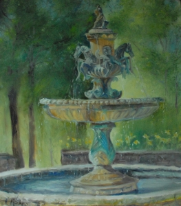 Crescent Hotel Fountain