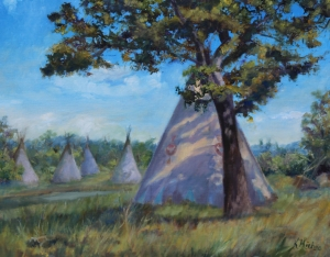 Tee Pee in the Osage Country