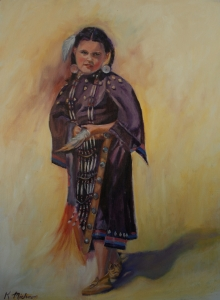 Young girl pow wow dancer  SOLD